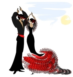 Image of couple flamenco vector