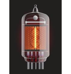 Nixie radio tube vector image