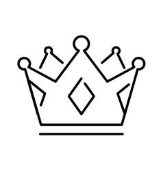 Crown of the king or royal crown line art icon vector