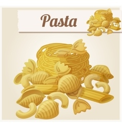Pasta detailed icon vector