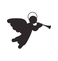 Angel icon merry christmas design graphic vector