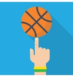 Basketball Ball On The Finger Drawing vector image vector image