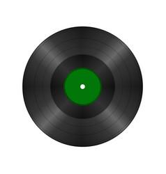Black vintage vinyl record vector