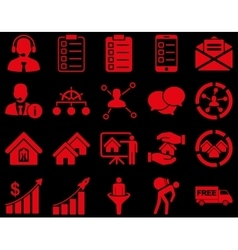 Business sales real estate icon set vector