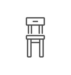 chair line icon vector image vector image