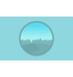 Collection of hill landscape silhouettes vector