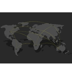 Connection World map vector image vector image