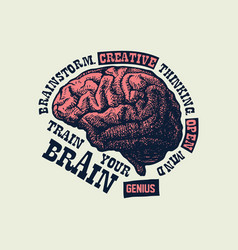 Creative concept of the human brain vector