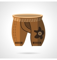 Cycling shorts flat color icon vector