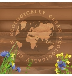Ecology labels vector image