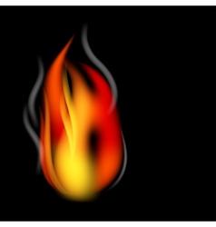 fire and smoke vector image