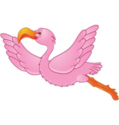 flamingo in flight vector image