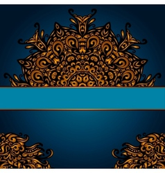 Golden luxury medallion vintage card vector image vector image