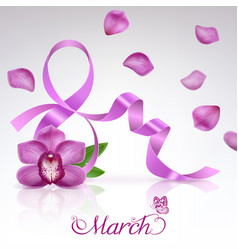 greeting card on 8 march vector image vector image