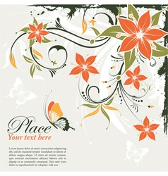 grunge decorative floral vector image vector image