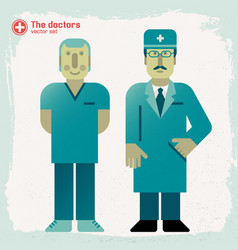 hand drawn doctors vector image