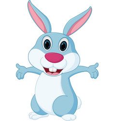 happy rabbit cartoon vector image
