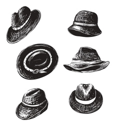 Hats Collection vector image vector image