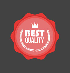 High quality flat badge round label vector