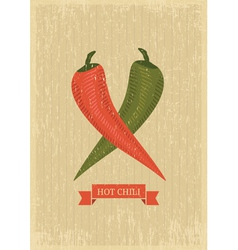 hot chili poster vector image vector image
