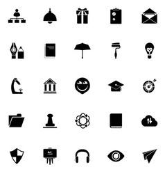 Job resume icons on white background vector