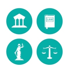 Law and justice icon set design vector