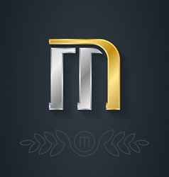Letter M Template for company logo with monogram vector image
