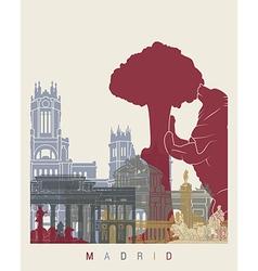Madrid skyline poster vector