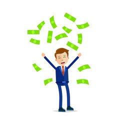 manager throwing money above head and screaming vector image