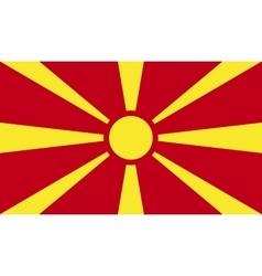 Mazedonien flag image vector image