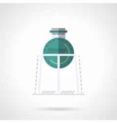 Medical labware flat color design icon vector