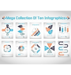 MEGA COLLECTIONS OF TEN MODERN ORIGAMI BUSINESS vector image vector image