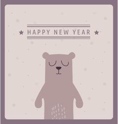 merry christmas postcard card design vector image