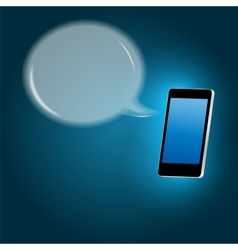 Mobile phone with speech bubble vector image vector image
