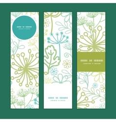 Mysterious green garden vertical banners vector