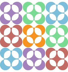 Pastel abstract round flowers on the white vector