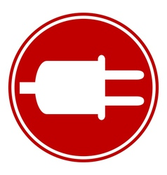 Power cord sign button vector image