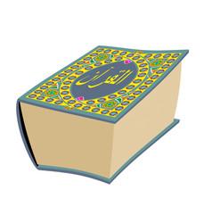 Quran islamic holy book isolated koran big muslim vector