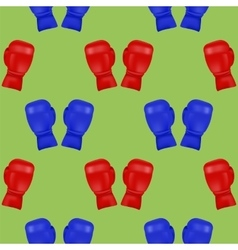 Red blue boxing gloves seamless pattern vector