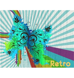 retro background vector image vector image
