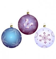 set Christmass balls vector image vector image