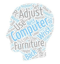 Sort your computer furniture stay fitter text vector