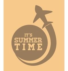 Sumer time design vector