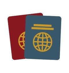 Two passport identification tourist vector
