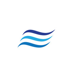 Water wave symbol and icon vector