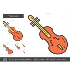 Violin line icon vector