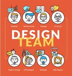 Design team vector image