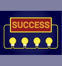 Idea success concept vector