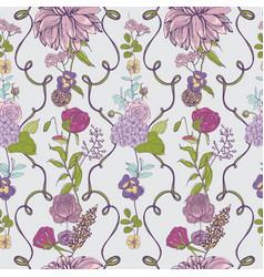 vintage wallpaper background floral seamless vector image
