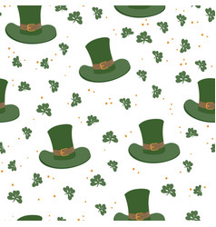 saint patricks day seamless pattern celebration vector image